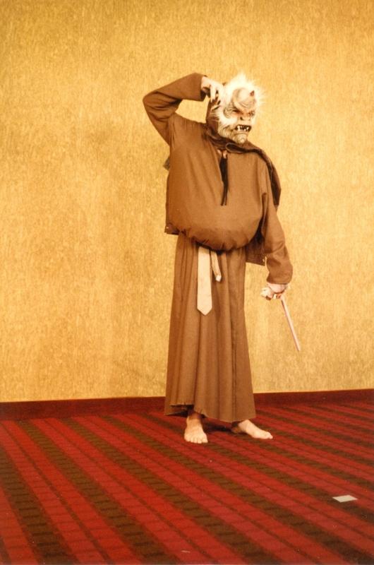 Beast Mask, Brown Robe